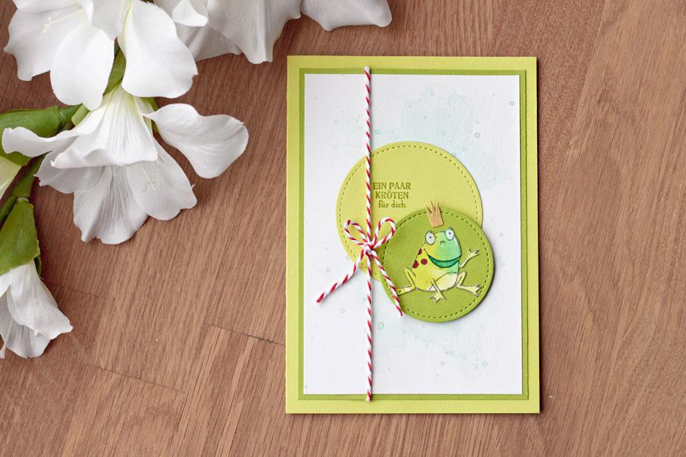 Geldgeschenk Karte.Geldgeschenk Karte Froschkönig Colorspell
